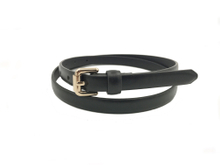AF-101 Women's dress pu skinny belt with pin buckle