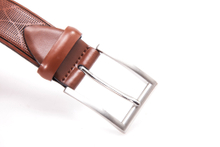 AFM7055 Mens High Quality Tan Leather Belt with Pin Buckle