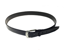 AF-166 Mens black and brown leather formal belt