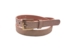 AF-114 Womens pink leather dress belt