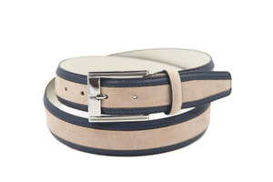 AFM7042 Mens Wholesale Navy PU Casual Belt with Pin Buckle