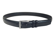 AF-178 Mens blue leather formal belt