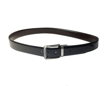 AF-144 Mens best black leather formal belt