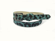 AF-085 Womens leopard print pu fashion belt with buckle