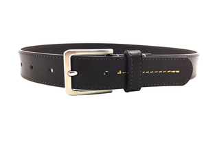 AF-332 Boys black leather fashion belt with buckle