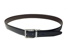 AF-149 Mens black leather formal belt